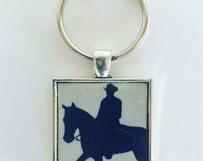 Cowboy Keychain, The Lone Star State Gift, Texas License Plate, Recycled License Plate, Keychain, Gifts From Texas.