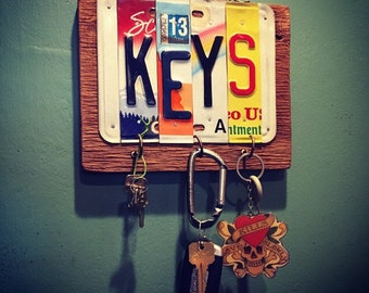 Key Holder. Keys. Key Hook. Home Decor. Key holder for wall. Garage Key Holder. Fathers Day Gift. House    Warming Gift.