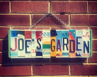 Garden Sign, Personalized Garden Sign, Gift for Gardener Man, Gift for Garden Lover, License Plate Art, Gift for Gardener, Garden Decor.