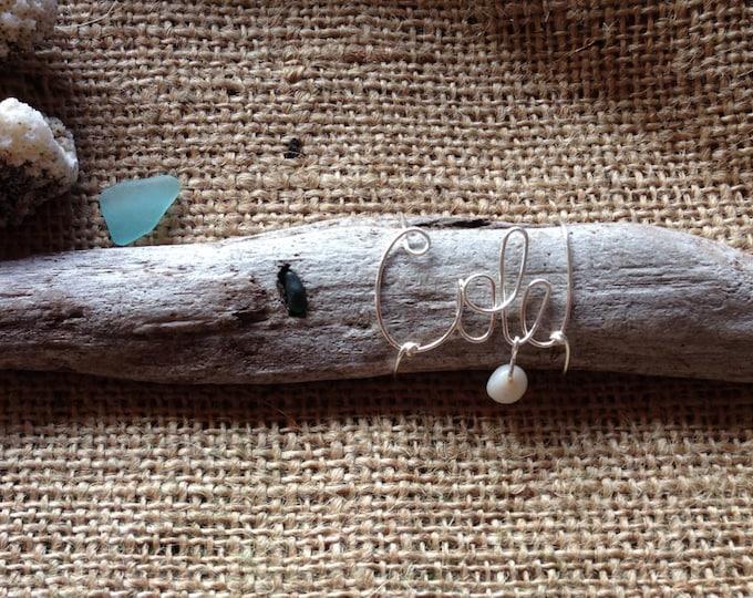 Driftwood Beach Decor. Beach Gift. Wire Name. Driftwood Art. Driftwood Decor. Beach Gifts for women.