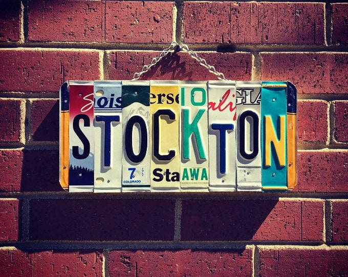 Stockton, Stockton California, Stockton University, College Sign, Dorm Room Decor, College Graduate Gift, College Student Gift.