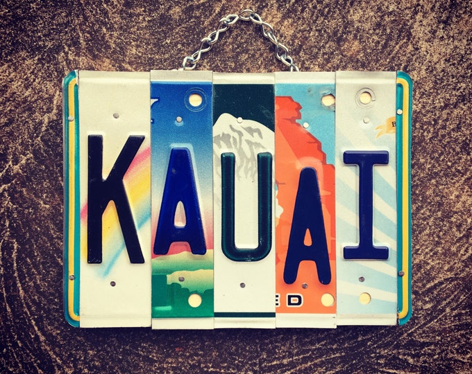 KAUAI License Plate Sign. Travel Decor. Hawaiian Decor. Kauai. Hawaii. Beach Decor. Nautical