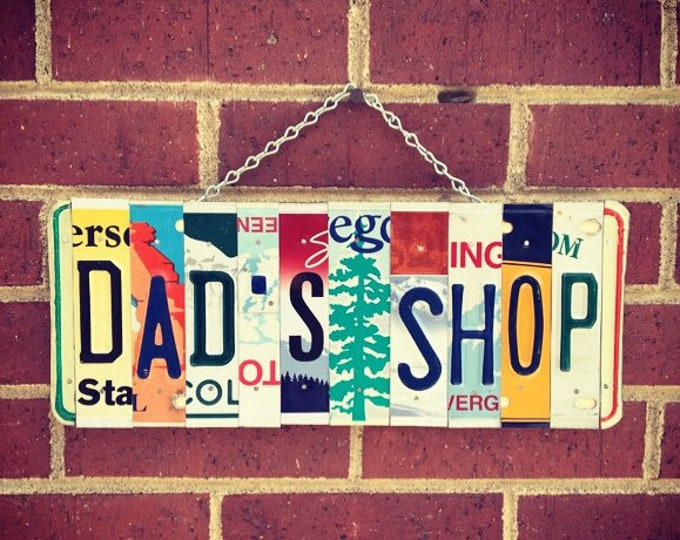 Gift for Dad, Dads Gift, Garage Sign, Garage Decor, Fathers Day Gift, Mens Birthday, Mancave Sign