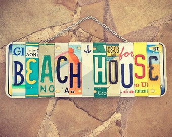 Beach House Sign, Beach Decor, House Warming Gift, Home Decor, Mothers Day Gift. Beach House Sign. Nautical Decor.