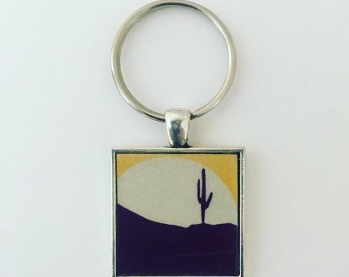 Arizona Keychain, Arizona License Plate Keychain, Arizona State Necklace, Arizona Gift Idea, Arizona Native, Cactus Keychain, Travel Gift
