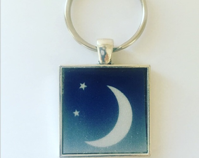 Texas Souvenir, Moon Keychain, Texas State Gift, Texas Keychain, License Plate Keychain, Stocking Stuffer, Gift for New Driver, Boho