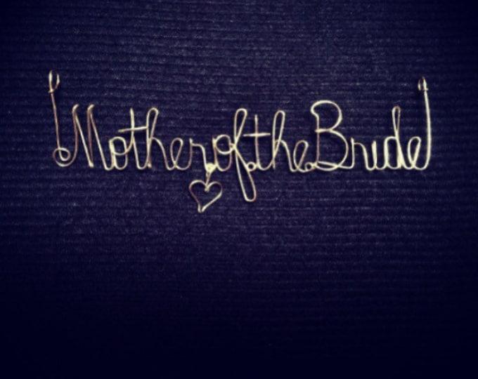 Mother of the bride. Mother. Bride. Wirename. Wedding. Weddinggift. Giftidea. Scrapbook. Album. Card. Art