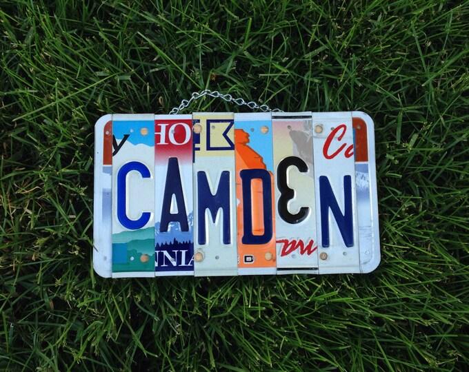 Boys. Roomdecor. Licenseplate. Sign. Birthday. Fathersday. Dad. Car. Bedroom. Handmade. Art. Usa.