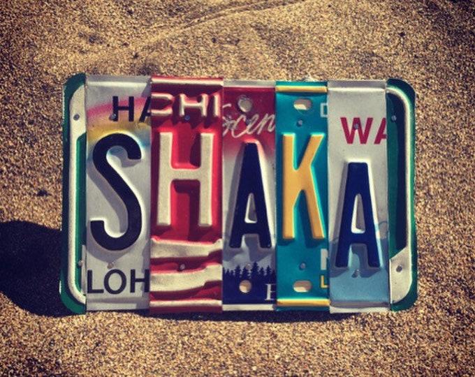 Beach Decor. Hawaiian Decor. Beach Sign. Shaka Sign. License Plate Art. Maui Souvenir. Travel Gifts. Hawaiian Art.