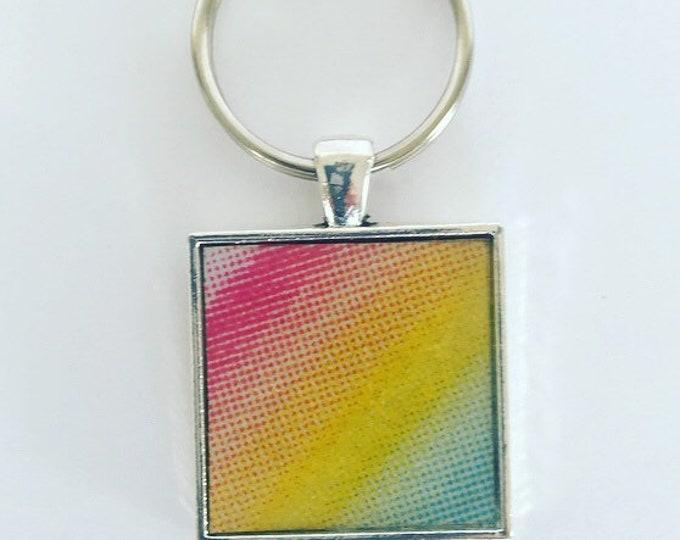 Hawaii License Plate Keychain, Hawaii Keychain, Gift from Hawaii, Rainbow Keychain, Rainbow Necklace, Gift for new Driver, Hawaii Souvenir.