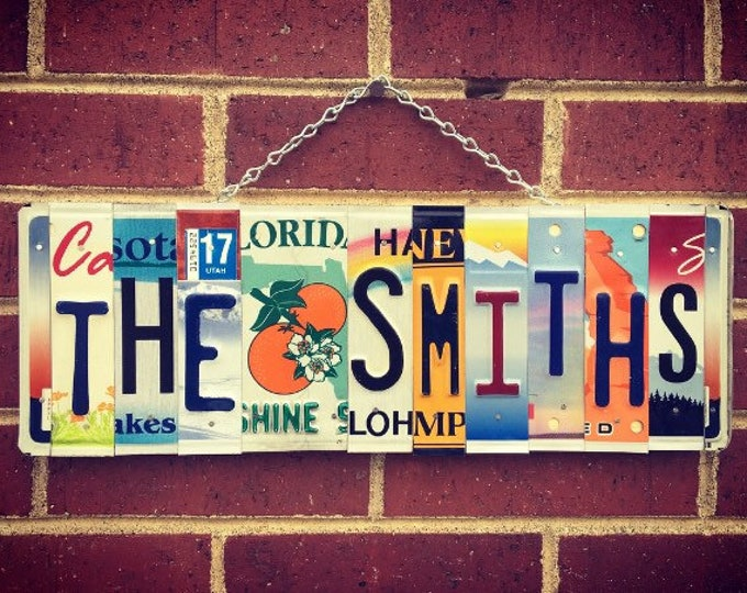 Family Name Sign, Mothers Day Gift, House Warming Gift, Family Sign, Last Name Sign, Family Name Metal Sign, Last Name EST Sign, Home Decor