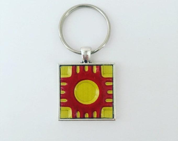 New Mexico Keychain, New Mexico Souvenir, New Mexico Gifts, Keychain, Gift Tag, Travel Gifts, New Mexico Zia, New Mexico Zia