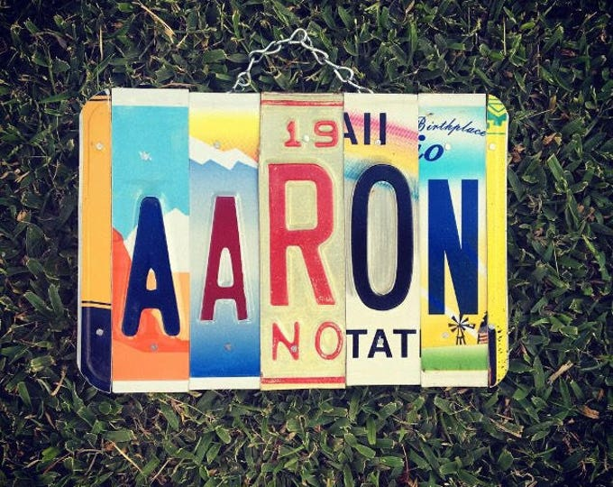 Boys Gift Personalized License Plate Sign - Boys Birthday Gift - Boys Room Decor - Gift for Him - Baby Boys Gift Idea. Exchange Student Gift