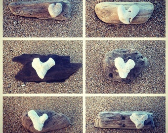 Valentine's Gift Idea, Made in Hawaii, Driftwood Art, Beach Decor, Driftwood Keepsake, Beach House Gift, Heart Art
