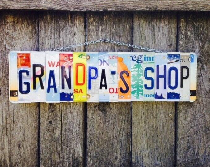 GRANDPA'S SHOP Sign. Papa . Grandpa. Dad. Gift for dad. Gifts for grandpa.
