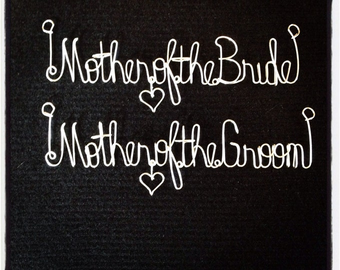 Mother of the bride. Mother of the groom. Wedding. Gift idea. Bride. Groom. Mother. Scrapbook. Shadowbox. Wire mame. Flowergirl.