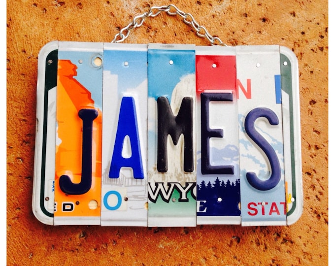 Dad. Mancave. Fathers day. Upcycled. Reclaimed. License plate. Art. Boy. Room decor. Custom. Car theme. Christmas. For him. Decor