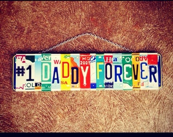 GREATEST DAD Sign. Gift for Him. Fathers Day Gift. Gift for Dad. License Plate Gift for Dad. License Plate Art. Garage Sign for Dad.