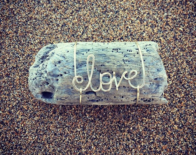 Bridesmaids Gifts, Wedding Favor, Beach Wedding Decor, Driftwood Art, Personalized Wedding Gift, Wire Name, Custom Gift