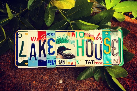 Lake House Loon License Plate Sign, License Plate Art, Lake House Decor, Maine License Plate, Lake Cabin Decor, Lake House Sign