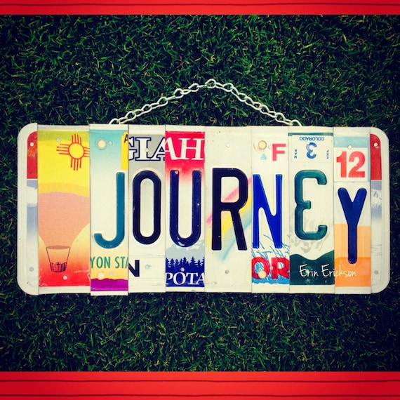 License plate. Journey. Travel. Hot air balloon. Birthday. Gift idea. Hawaii. New Mexico. Urah. Colorado. Oregon. Car. Garage sign. For him