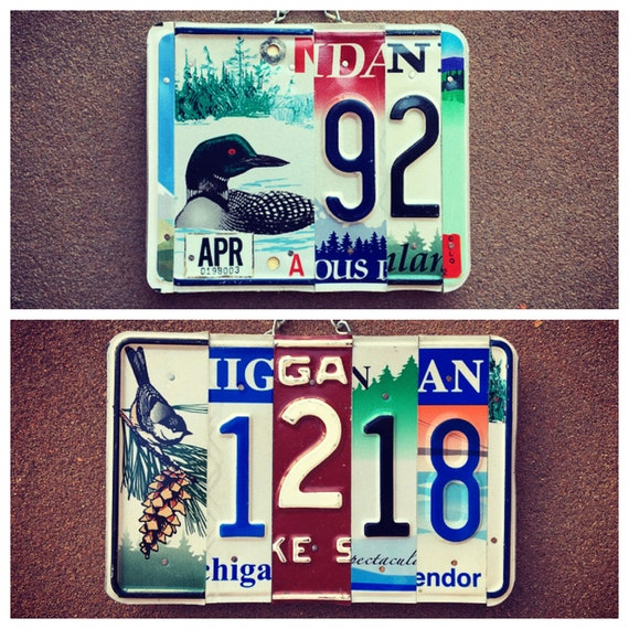 House Number License Plate Sign. Custom House Number Plaque. License Plate numbers. Outdoor Sign. Address Plaque. House Warming Gift.