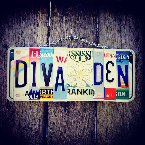 Girls Room Sign - Birthday Gift for Girl - License Plate Sign - Girls Only Sign - Kids Room Decor - Diva Sign - Divas Only