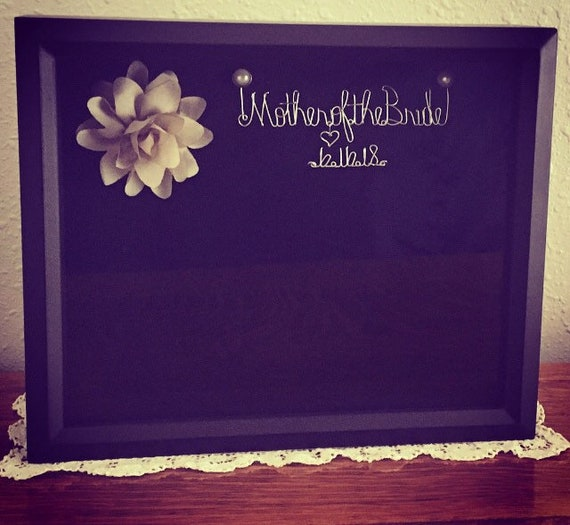 Wedding Shadowbox, Wedding Frame, Wedding Gift, Mother of the Bride Gift, Wedding Keepsakes, 8X10 Shadowbox Frame