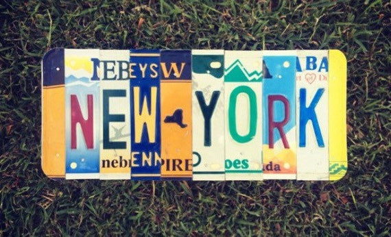 New York State License Plate Sign, New York Home Decor, New York License Plate, Dorm Room Wall Hanging, Gift for College Student