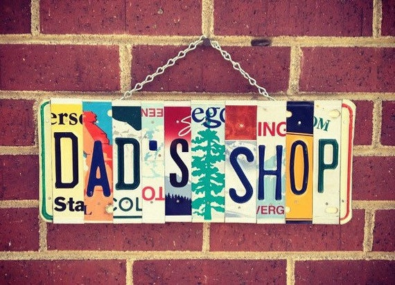 Garage Sign, License Plate Art Sign, Quarantine Fathers Day, Personalized Signs, Gift For Dad, Garage Decor, License Plates
