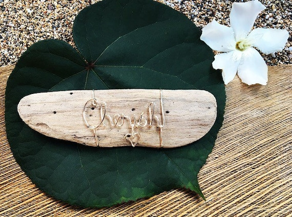 Inspirational Quotes, Driftwood Art, Ocean Decor, Gifts for Her, Wire Words Custom, Made in Hawaii, Personalized, Beach Themed Gifts.