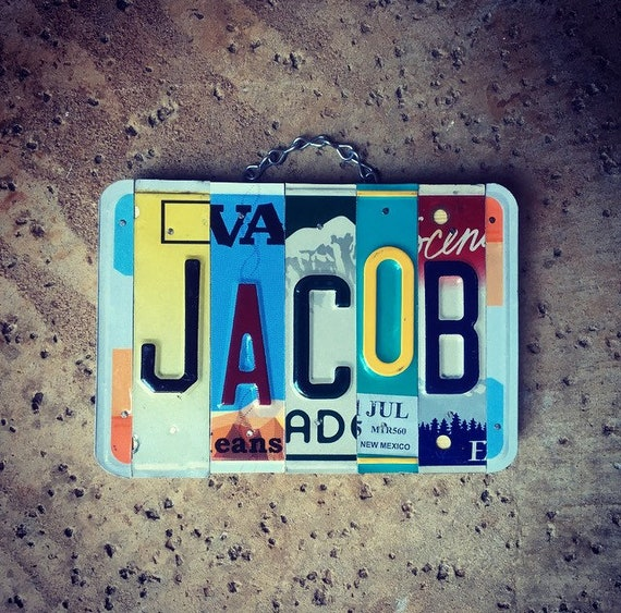 Gift for Kids, Exchange Student Gift, Office Gifts, Personalized, Wood Name Sign, Christmas Gift Idea, Car Room Decor, Jacob.