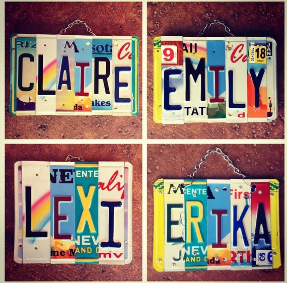License Plate Girls Name Sign, Gifts for Girls, Girls Birthday Gifts, Girls Dorm Room Decor, Personalized Gifts, Custom Name, License Plate