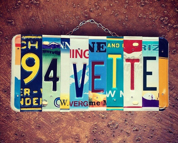 Custom License Plate Sign, Gifts for Him, Mens Gifts, Man Cave Decor, Garage Sign, Personalized Mens Gifts, Car Decor, Car Gifts, Birthday