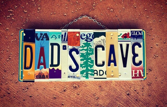 Dads Gift, Personalized Mancave License Plate Sign for Dad, Mancave Sign, Christmas Gift for Dad, Mancave Decor, License Plate Art, Dad Sign