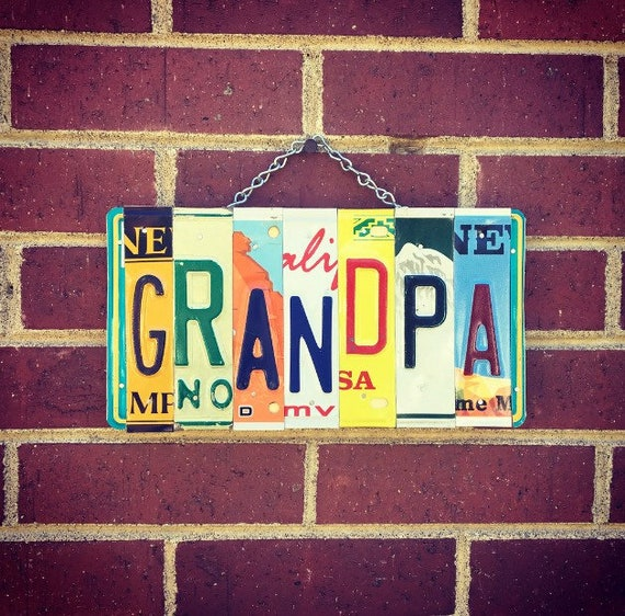 Fathers Day Gift for Grandpa, Grandpa Sign, Gifts for Grandpa, License Plate Sign, Gift for Him, For Grandpa.