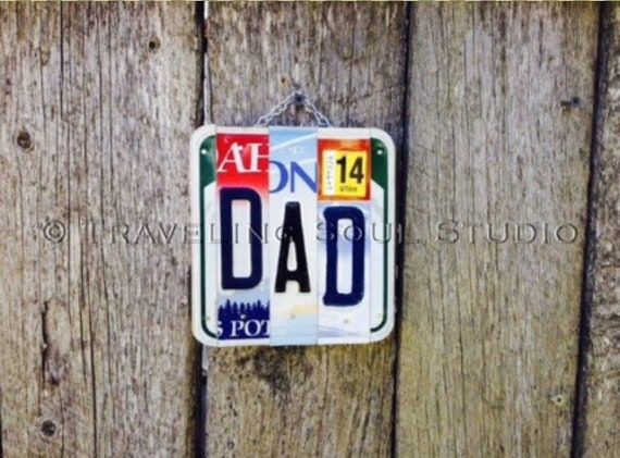 License Plate for Dad. Fathers Day Gift. Gifts for Dad. Dad Sign. Gift ideas for Dad. Gift for husband. Gift for Dad.