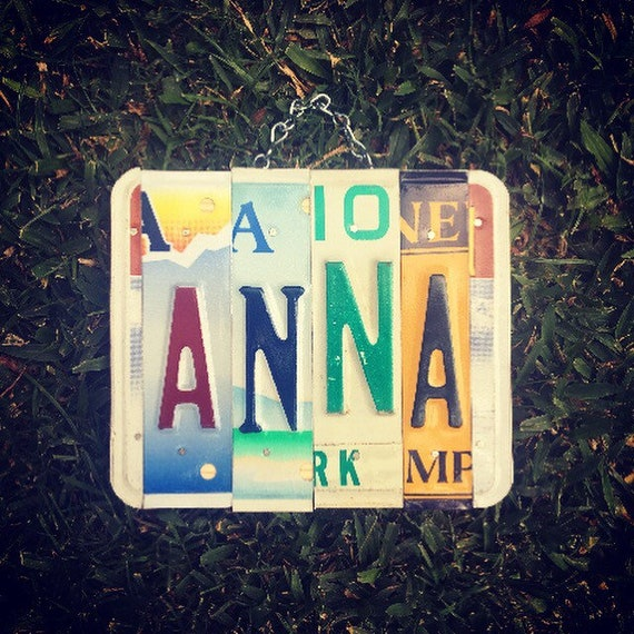Name Sign. Birthday Gift for her. Name Plate. License Playe Art. Girls Birthday Gift. Name Decal. Name Sign For Nursery. Girls Name Sign.