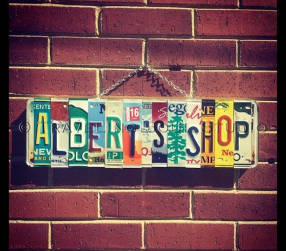 Personalized Sign, Gift Idea for Him, Retirement Gift, Mens Birthday Gift, License Plate Sign, Custom Name Sign.