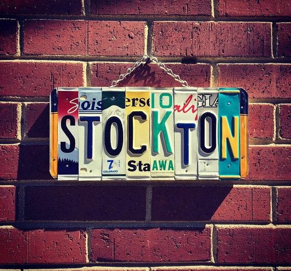 Stockton, Stockton California, Stockton University, College Sign, Dorm Room Decor, College Graduate Gift, College Student Gift.