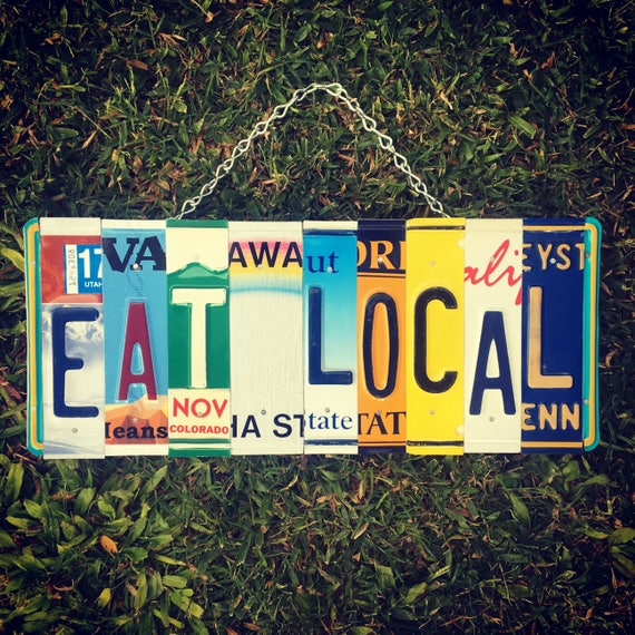 Business Sign. Eat sign. Restaurant Signage. Eat Local Sign. Eat Sign for kitchen. Food truck Sign. Business Signs Personalized.