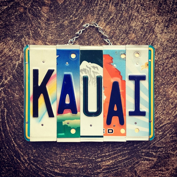 KAUAI License Plate Sign. Travel Decor. Hawaiian Decor. Kauai. Hawaii. Beach Decor. Nautical