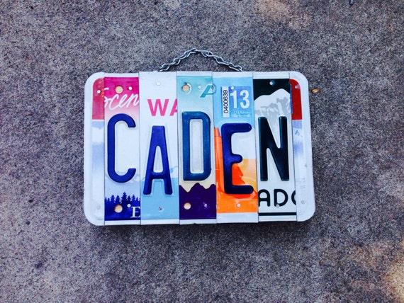 Boys. License plate art. Men. Recycled. Art. Car. Name. Custom name. Hawaii. Travel. Idaho