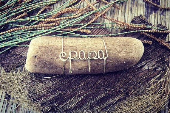 Papa Gifts, Gifts for Papa, Papa Birthday Gift, Grandpa Gift from Grandkids, Birthday Grandpa Gift, Driftwood, Wire Name, Natural Home Decor