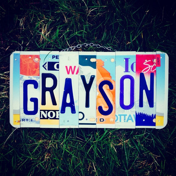Boys. Licenseplate. Sign. Handmade. Personalized . Name. Bedroom. Roomdecor. Babynursery. Christmas. Babyshower. Giftidea. Car.