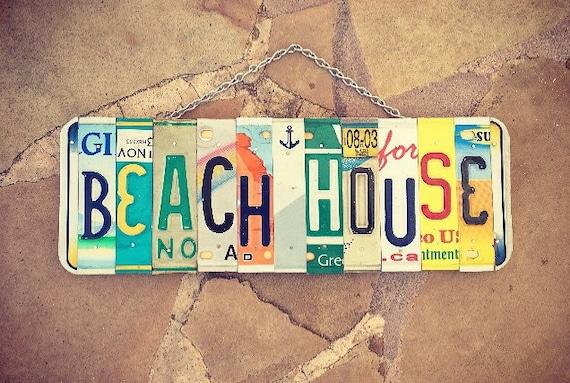 Beach House Sign, Beach Decor, House Warming Gift, Home Decor, Mothers Day Gift. Beach House Sign. Nautical Decor.