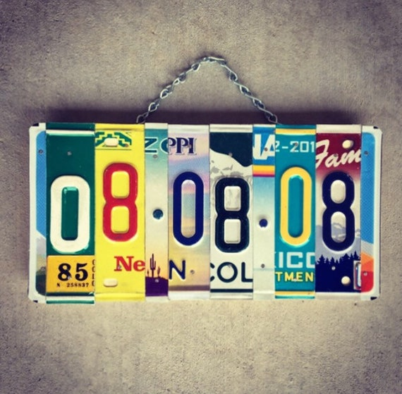 Custom Valentines Day Wedding Date Anniversary License Plate Sign, Save the Date Gift, Made in Hawaii, Wedding Gift Idea, Number Plate
