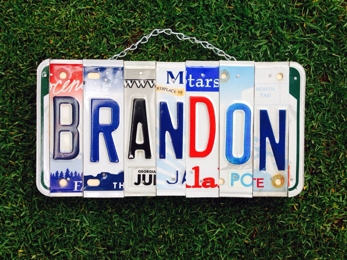 license plate sign boys christmas sign custom boys room baby boy teen nascar mens for him dad garage