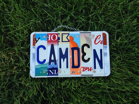 Boys. Roomdecor. Licenseplate. Sign. Birthday. Fathersday. Dad. Car. Bedroom. Handmade. Art. Usa.
