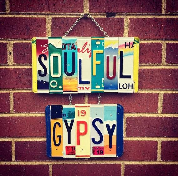 Free Spirit, Gypsysoul, Hippie Gypsystyle, Gypsygirl, boho, bohemian, licenseplateart licenseplatesign